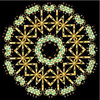 Beautiful ornamental rosette. For ethnic or tattoo design.
