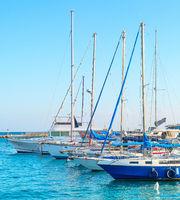 Yachts in Larnaca marina, Cyprus