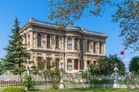 Beautiful facade of Goksu Pavillion, Istanbul, Turkey