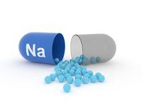 Open capsule with Na Sodium