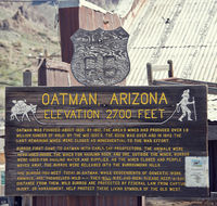 Oatman Town, Arizona USA - March 13 , 2019.