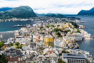 Alesund, Norway. Cityscape image of Alesund, Norway.