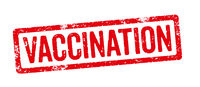 A red stamp on a white background - Vaccination