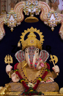 Dagdusheth Halwai Ganpati idol, Pune, Maharashtra, India.