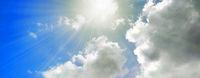 himmel sonne wolken blau