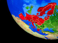 Schengen Area members on Earth from space