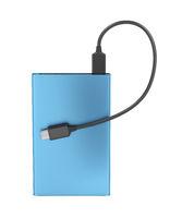 Blue external battery