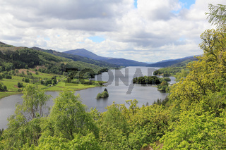 Panorama am Loch Tummel in Schottland