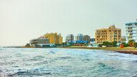 Mackenzie beach in Larnaca