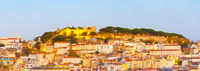 Lisbon Castle panorama, Old Town