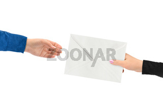 Hands and letter