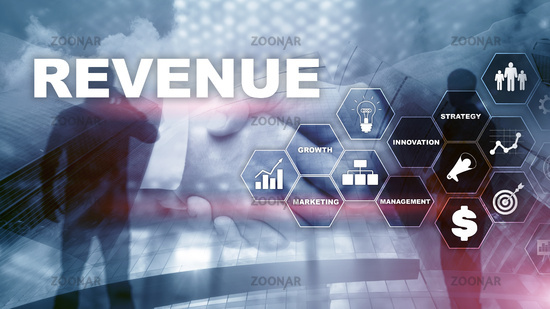 Increase revenue concept. Planing growth and increase of positive indicators in his business. Mixed media. Planning revenue growth.