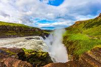Iceland. Gullfoss - Golden Waterfal