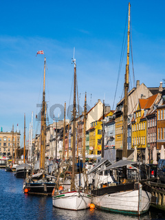 The old harbour area of Nyhan in Copenhagen
