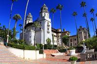 Randolph Hurst castle, the Disneyland of art at the hills of San Simeon. CA, USA