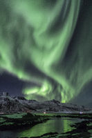 polar lights over norway