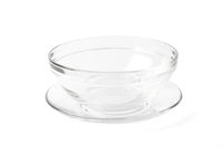 Transparent Glass Bowl and Plate on White