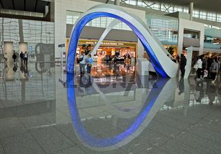 Informationsstand im Terminal 2