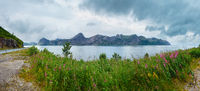 Summer Senja coast panorama, Norway