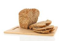 multigrain bread on board