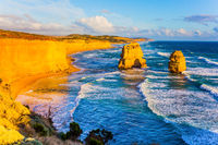 Sunset on coast of Australia