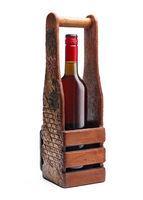 Bottle, wine, handmade, isolated, white background, luxury, alcohol, gift,