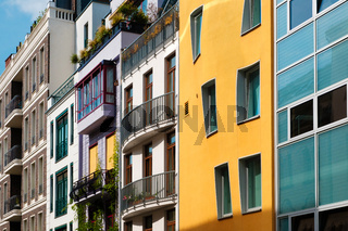 Colorful building facades - real estate concept
