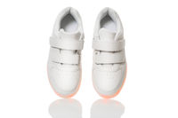 White sneackers with led light sole
