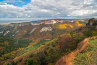 Autumn landscape of mountains and forest