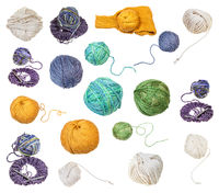 skein of greenish yellow yarn with unwound tail