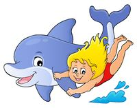 Girl and dolphin image 1