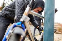 Fahrraddiebstahl in der Stadt