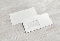Two blank envelopes