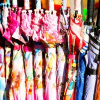 in a market texture of umbrella