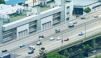 Traffic urban highway panorama, Singapore