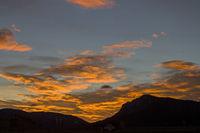 Sonnenaufgang auf dem Vezzenapass