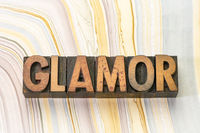 glamor word in wood type