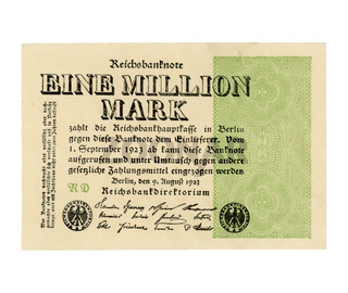 Eine Million Mark (meaning One Million Mark) note