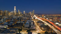 Night Rush Hour Traffic Bay Bridge San Francisco Skyline
