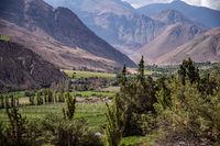 beautiful valley in the near of La Serena