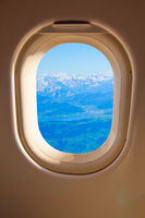 Airplane side window