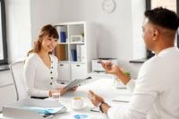 recruiter having job interview with employee