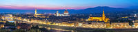 Florence Italy, sunset panorama city skyline