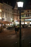 At night in the old town of Limburg