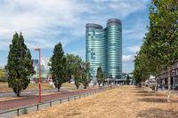 Modern office building of big Dutch financial company