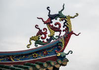 Carving details on South Putuo Temple or Nanputuo in Xiamen