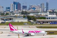 Swoop Boeing 737-800 airplane Fort Lauderdale airport