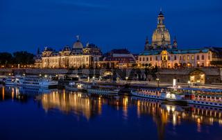 Dresden - Terrassenufer - Brühlsche Terrasse.