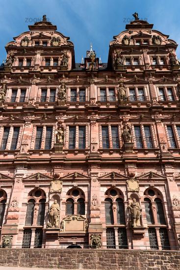 HEIDELBERG, GERMANY - JUNE 01, 2019: Heidelberg Castle is a ruin in Germany and landmark of Heidelbe