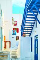 Old street in Mykonos